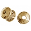 Bronze End Cap Viking Knit 12mm